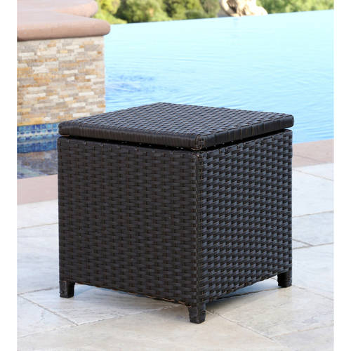 Devon and Claire Laguna Outdoor Wicker Storage Ottoman, Multiple Colors