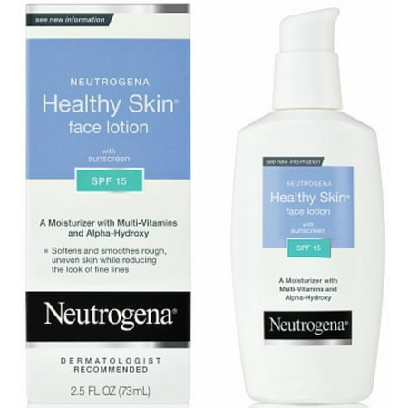 Neutrogena Healthy Skin Face Lotion SPF 15, 2.50 oz (Pack of