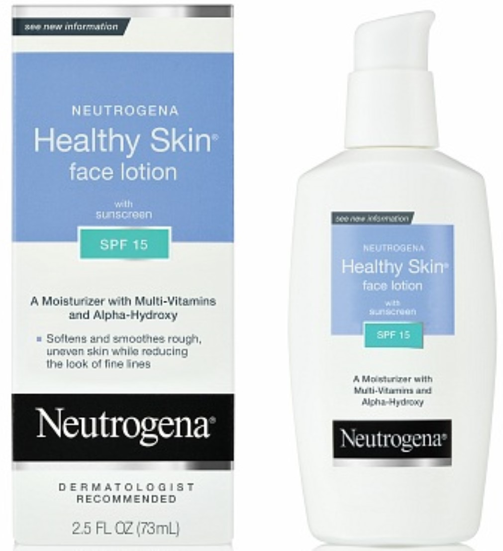 Neutrogena Healthy Skin Face Lotion SPF 15, 2.50 oz (Pack of 6)