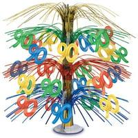 90th Birthday Party Foil Cascade Centerpiece