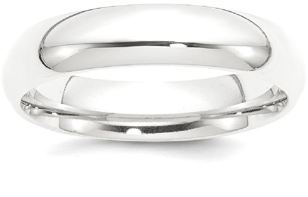 IceCarats Platinum 5mm Half Round Comfort Fit Lightweight Wedding Ring Band Size 11.50 Classic Domed by IceCarats