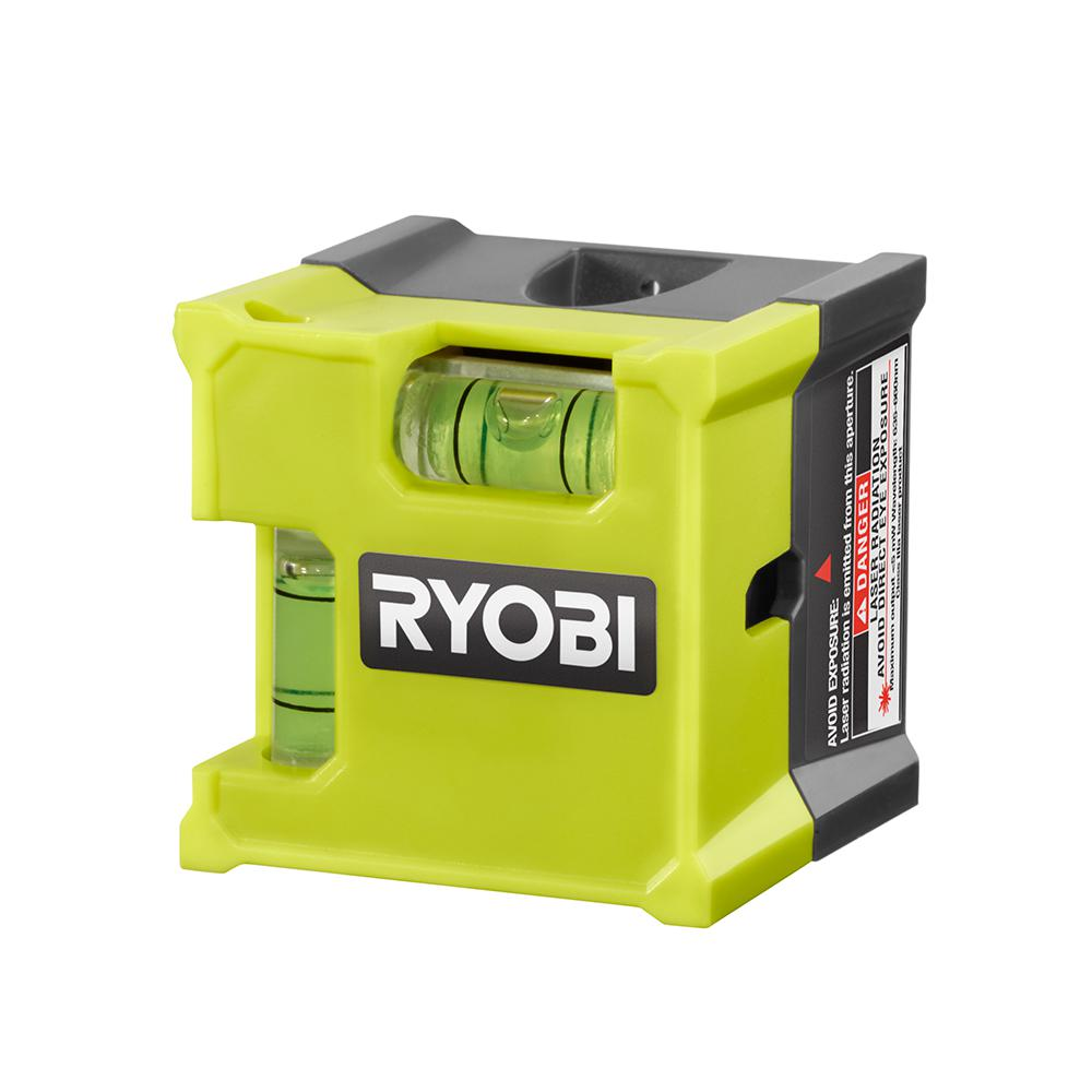 Ryobi Laser Cube Compact Laser Level Vertical and Horizontal Vials Measuring Tool ELL1500