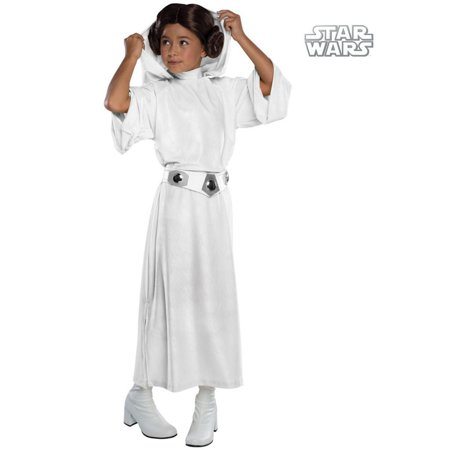 Girls Deluxe Princess Leia Costume - Lei Costume