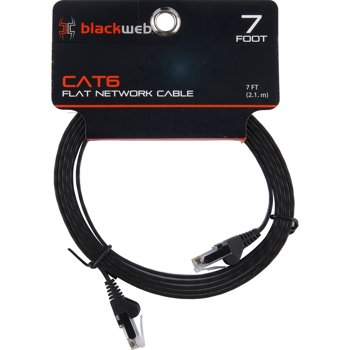 2-Pack Blackweb 7-Foot Cat6 Ethernet Cables