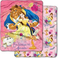 "Disney's Beauty and the Beast, ""Enchantment Awaits"" 50""x 60"" Double Sided Cloud Throw"