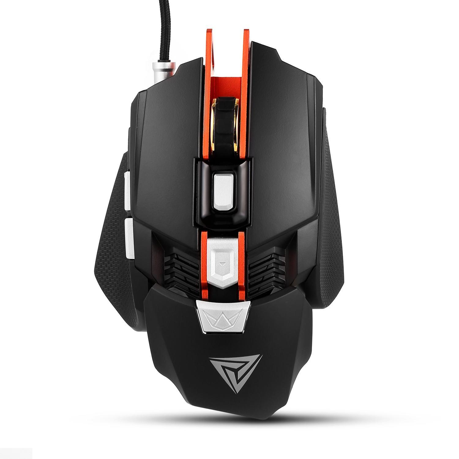 2019 The Newest! Professional Gaming Mouse RGB Mechanical Mouse 4000DPI 7 Button Wired Gaming Mouse 4 Color Changing Mice for PC Laptop Desktop HFON