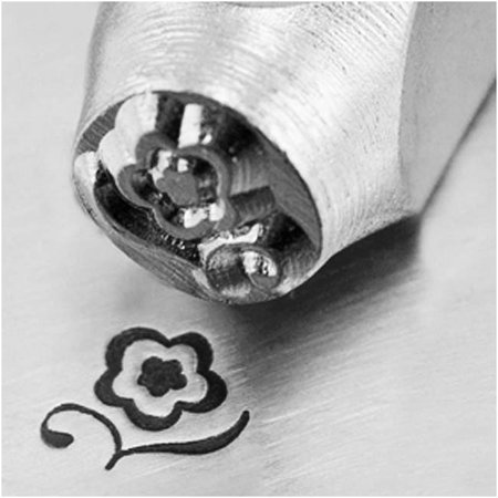 - ImpressArt Metal Punch Stamp 'Blossom' 6mm (1/4 Inch) Design - 1 Piece