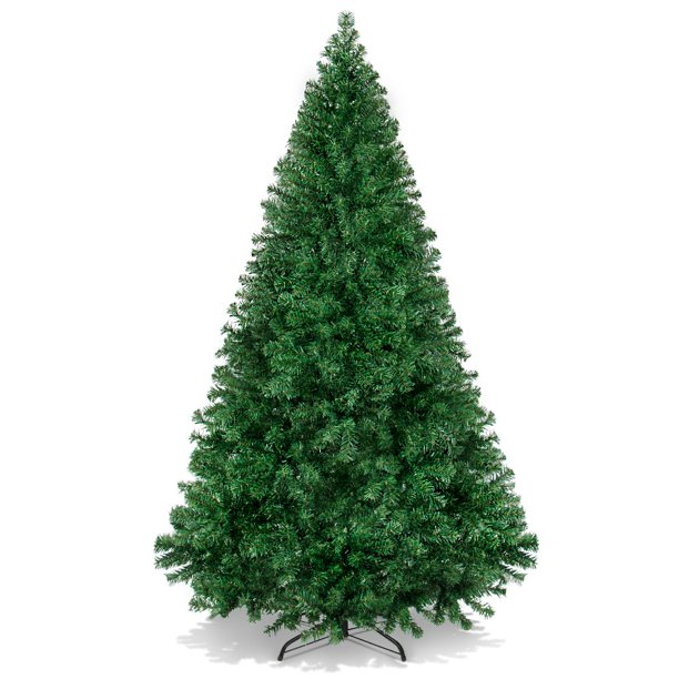 Best Choice Products 6ft Premium Hinged Artificial Christmas Pine Tree w/ 1,000 Tips, Metal Base - Green