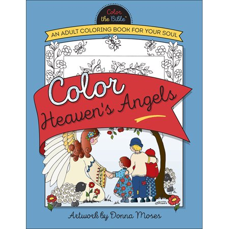 Color Heaven's Angels : An Adult Coloring Book for Your Soul - Angel Coloring Page