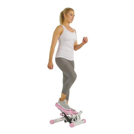 Sunny Health & Fitness P8000 Pink Adjustable Twist Stepper Step Machine w/ LCD Monitor