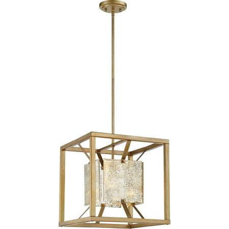 Pendants 1 Light With Antique Gold Tones Finish Steel Medium Base 15 inch 60 Watts