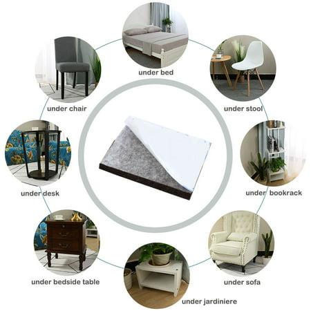 "Felt Furniture Feet Pads Square 3/4"" Self Adhesive Feet Floor Protector 24pcs - image 4 de 7"