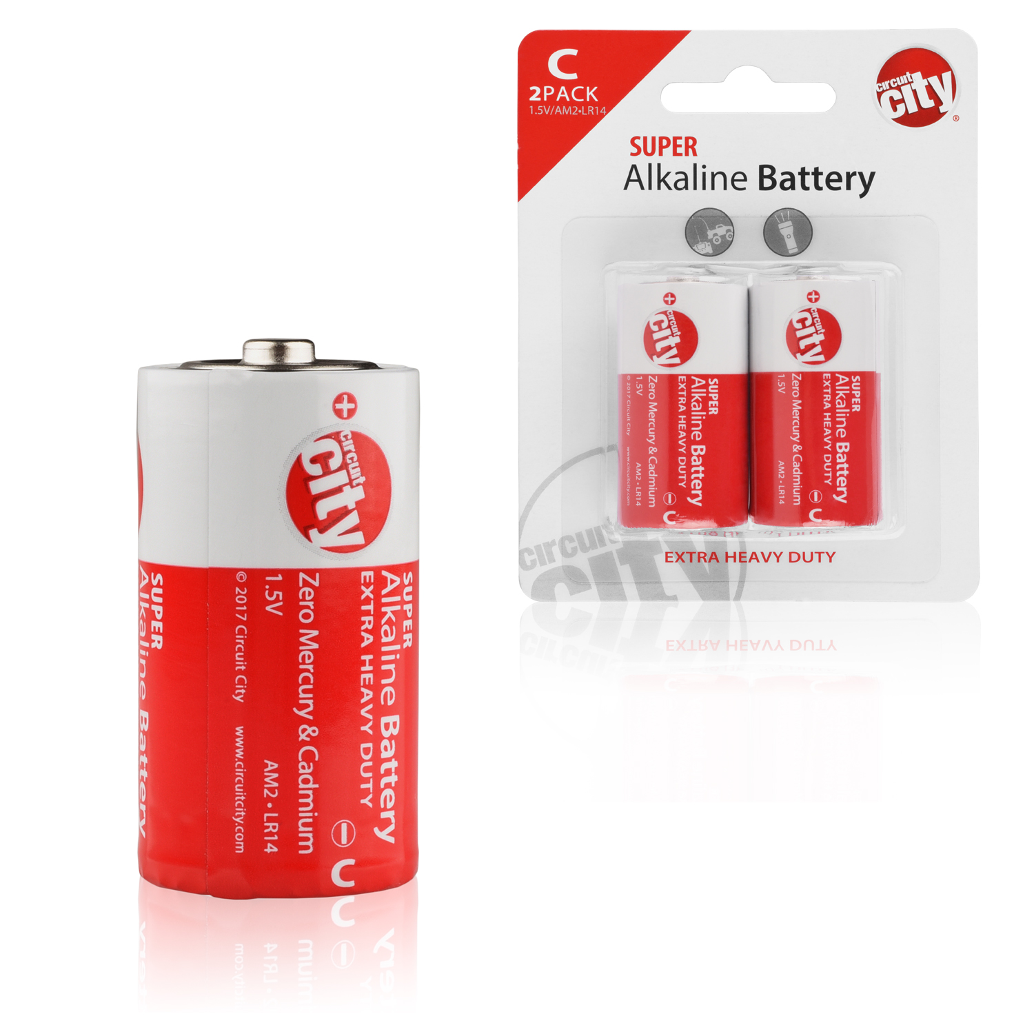 Essential Circuit City C-Cell  High Performance Alkaline Batteries (2 Pack)