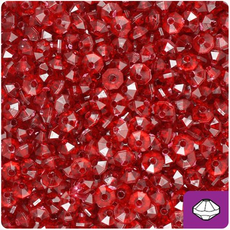 Jade Rondelle Beads - BeadTin Dark Ruby Transparent 6mm Faceted Rondelle Craft Beads (1200pcs)