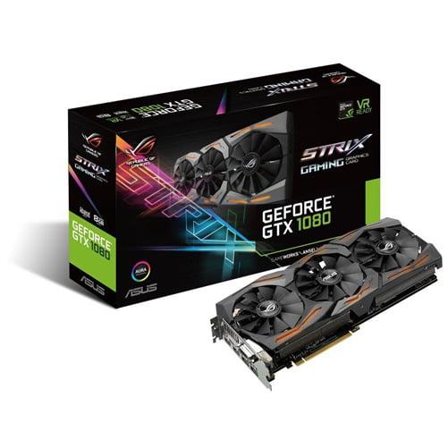 ASUS STRIX-GTX1080-A8G-GAMING ROG GeForce GTX 1080 8GB PCI Express 3.0 HDCP Ready Video Card