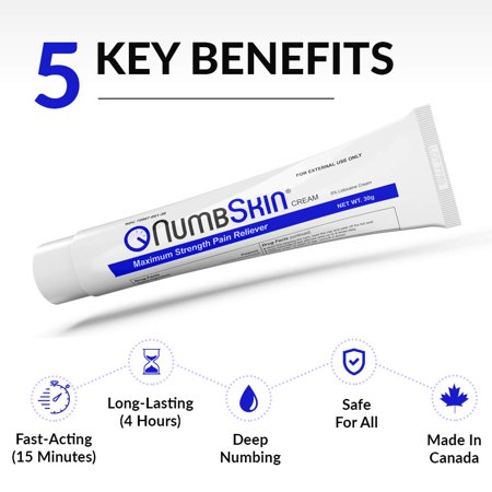 Numbing Cream 5% Lidocaine Topical Anesthetic– Fast Acting Tattoo Numbing Cream for Deep Pain Relief & Numbing Cream for Microneedling/Piercing/Microblading/Laser Hair Removal/Electrolysis (1