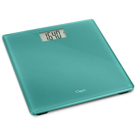 Ozeri Precision Digital Bath Scale (400 lbs Edition), in Tempered Glass with Step-on - Aggression Scale