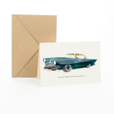 Classic Greeting Card - Hallmark Signature Men's Birthday Greeting Card (Classic Car)