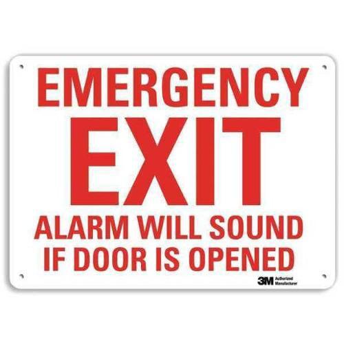 LYLE U7-1078-RA_14X10 Safety Sign, Reflctv Alumi, 14inH x 10inW