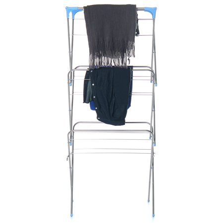 3-Tier Folding Clothes Drying Airer Rack Indoor Outdoor Laundry Dryer Concertina - image 10 de 12