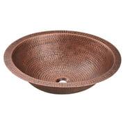 Polaris Sinks  P019 Single Bowl Oval Copper Sink