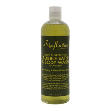Olive and Green Tea Bubble Bath Body Wash Anti-Aging and Ultra-Moisturzing by Shea Moisture for Unise - image 1 de 3