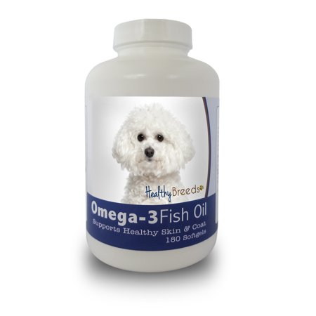 Healthy Breeds Dog Omega-3 Fish Oil Softgels for Bichon Frise 180 Count