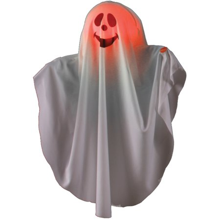 Color Changing Happy Face Smiling Ghost Halloween Hanging Decoration