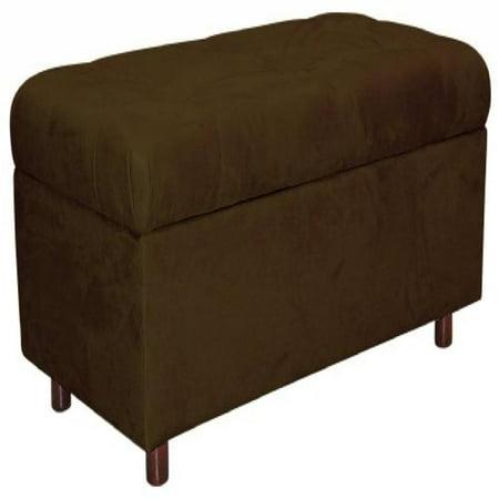 Superb Belden Tufted Storage Bench By Skyline Furniture In Chocolate Micro Suede Spiritservingveterans Wood Chair Design Ideas Spiritservingveteransorg