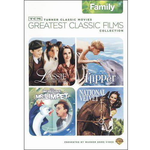 TCM Greatest Classic Films Collection: Family - The Incredible Mr. Limpet / Flipper / National Velvet / Lassie Come Home (Full Frame)