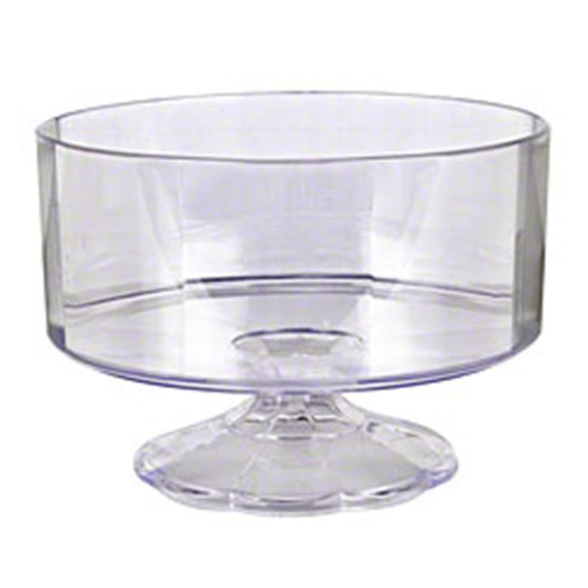EMI Yoshi EMI-FBSC 40 Oz Clear Plastic Pedestal Bowl - Pack of 12