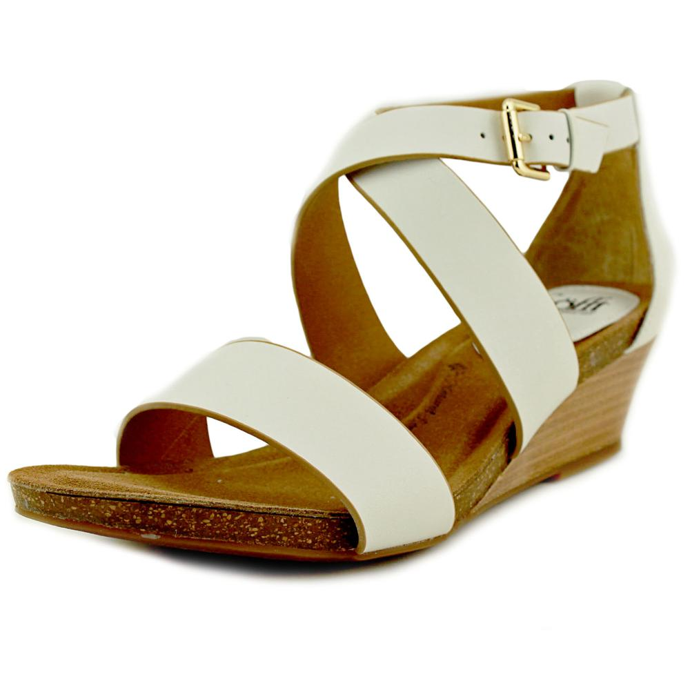 Sofft Vita Open Toe Leather Wedge Sandal by Sofft