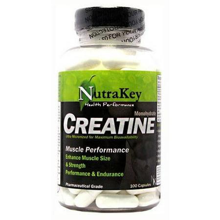 Nutrakey monohydrate de créatine, 100 CT