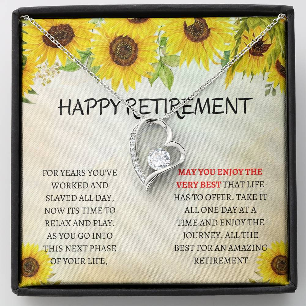 Shineon Fulfillment Retirement Gift Gift For Retirement Retirement Gift Idea Retirement Party Early Retirement Retirement Gifts For Women Retirement Forever Love Necklace For Colleagues Walmart Com Walmart Com