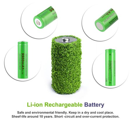 3.7V 18650 9900mAh Capacity Rechargeable Li-ion Battery Charger for Flashlight - image 8 de 8