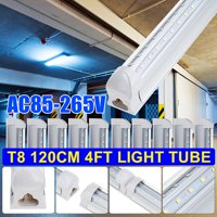 10Pcs AC85-265V 36W 4FT LED 2835SMD Tube Light 4Foot T8 V Shaped LED Shop Light Integrated 6500K White