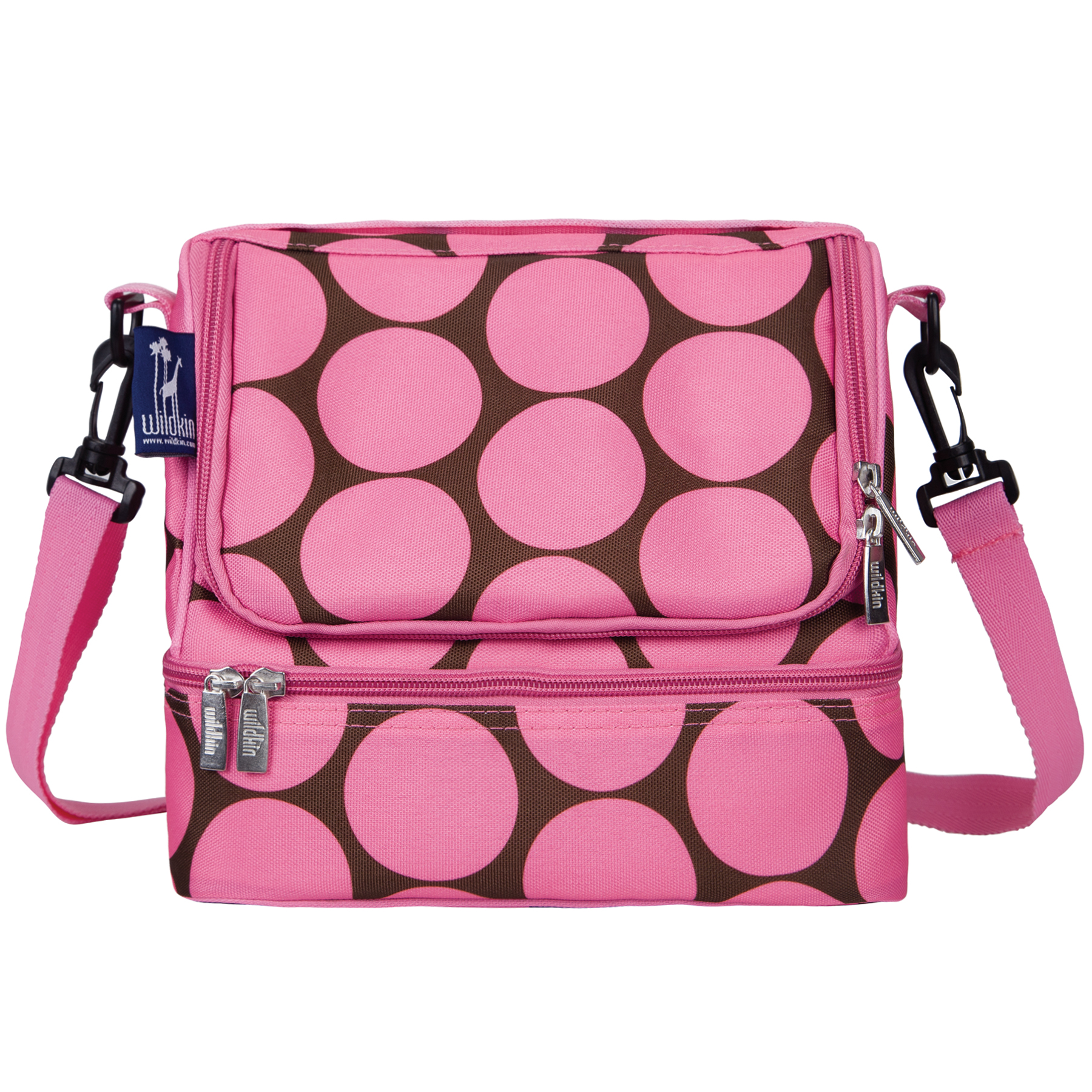 Wildkin Big Dot Pink Two Compartment Lunch Bag
