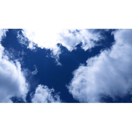 LAMINATED POSTER Blue Sky Background Blue Sky Clouds Clouds Blue Sky Poster Print 24 x 36