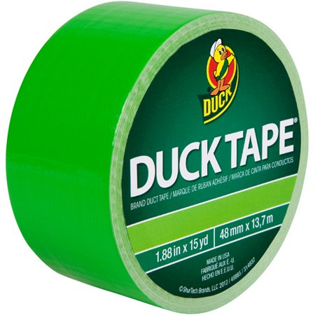 Duck Brand Duct Tape  1 88  X 15 Yard  Green Neon