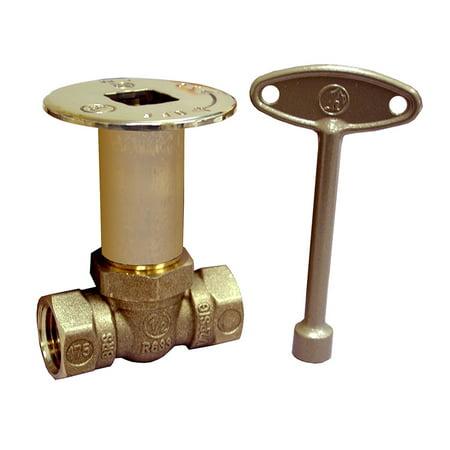 - Polished Brass Straight Ball Valve 1/4 Turn Log Lighter Valve,PartNo L75043 Jone