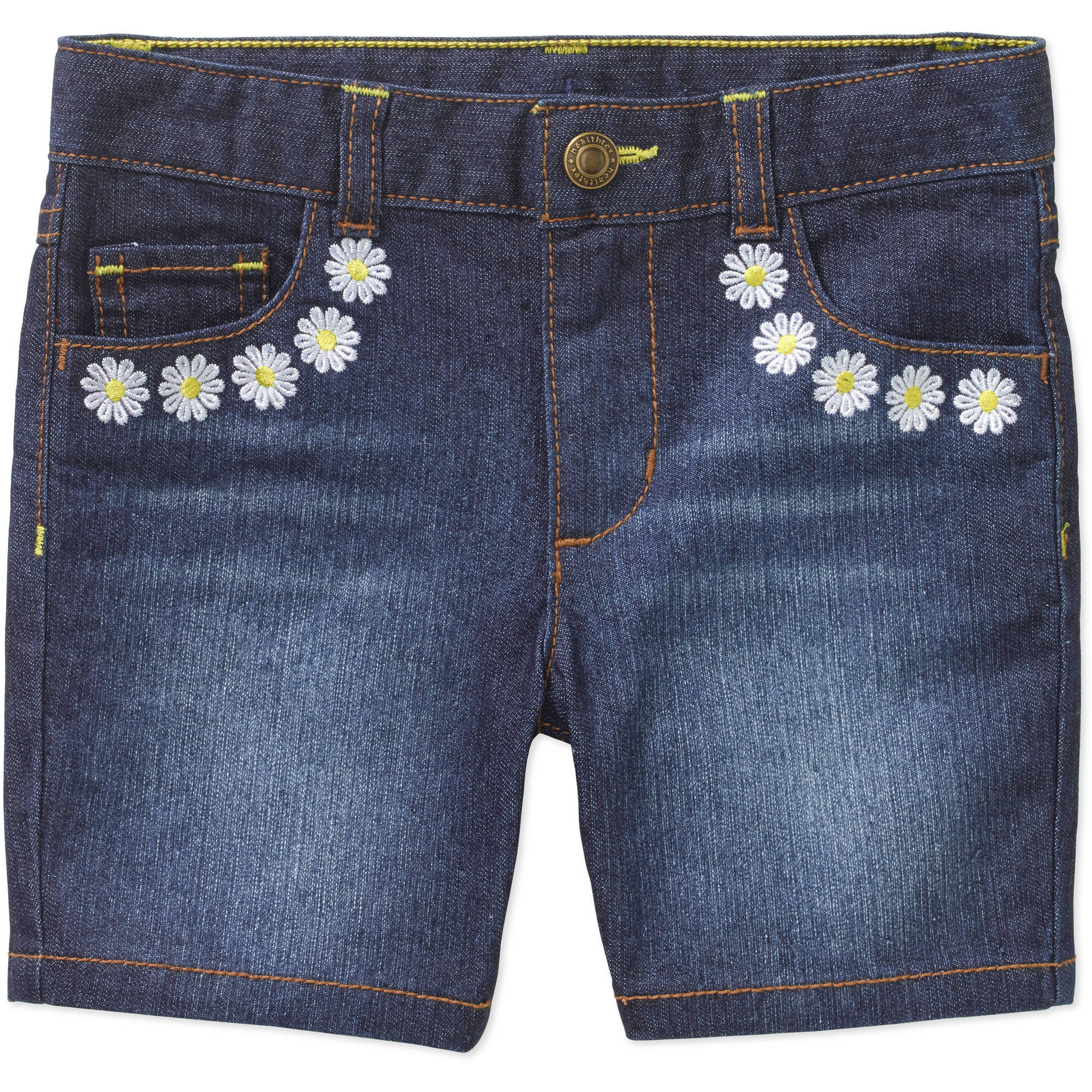 Healthtex Toddler Girl Embroidered Denim Bermuda Shorts