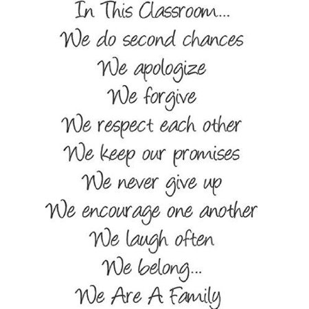 Top Selling Decals   Prices Reduced   In This Classroom    We Are A Family Quote School Rules Friend Classmates Teacher Student Wall Sticker   8 X12