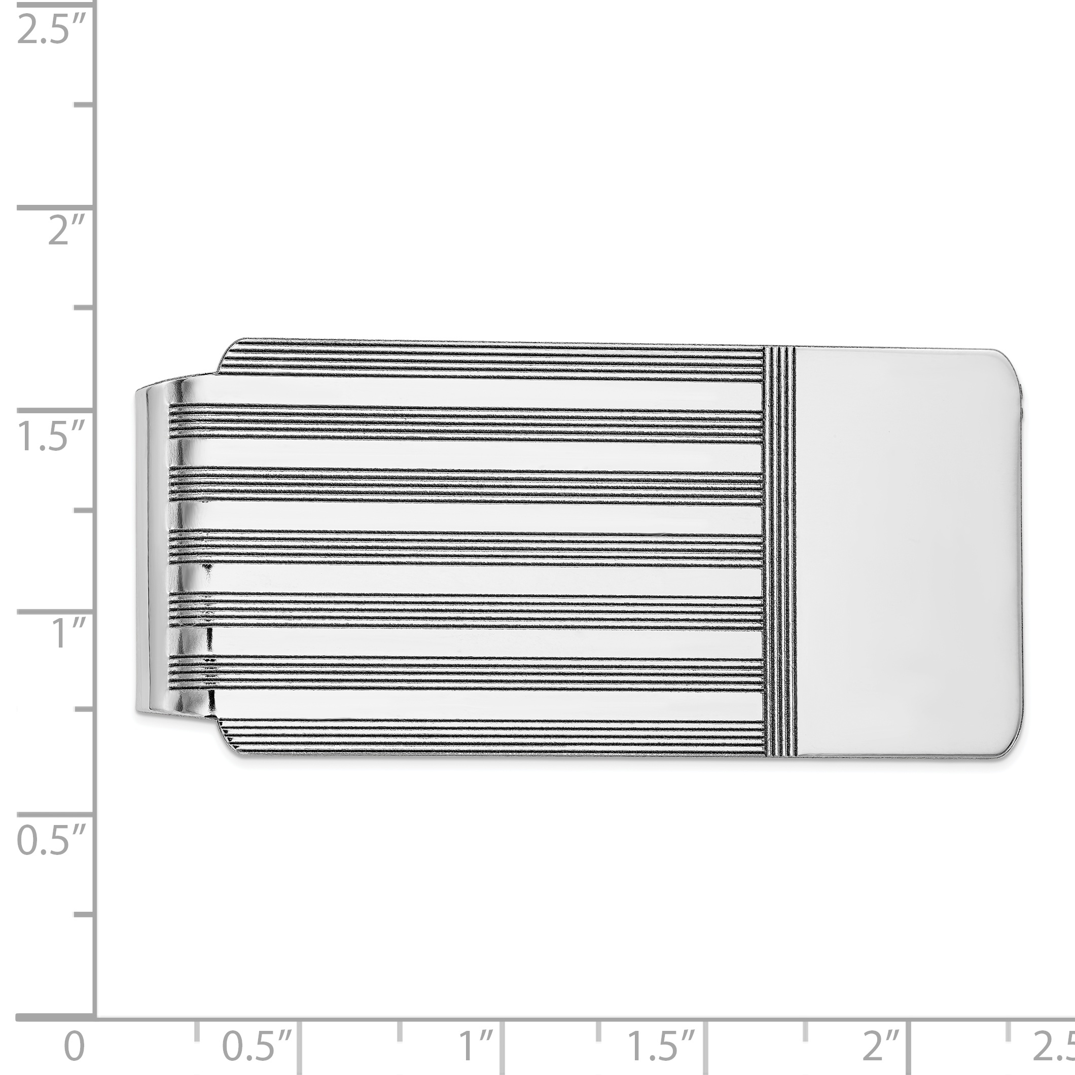 14K White Gold Money Clip - image 1 de 2