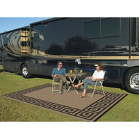 Patio Mats 9' x 12' Reversible RV Patio Mat, Indoor / Outdoor Rug, Camping Mat