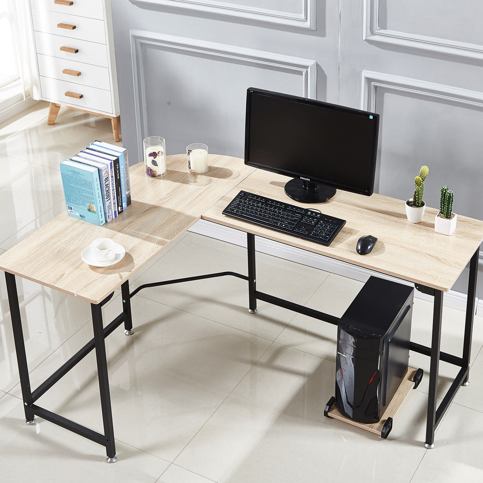 Corner Writing Desk Multiple Finishes