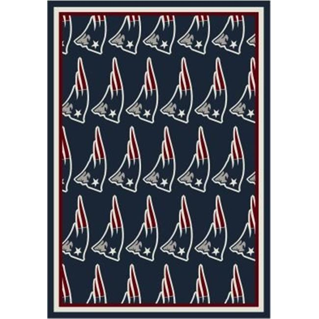 Milliken 4000019899 7 ft. 8 in. x 10 ft. 9 in. NFL Team Home Field New England Patriots Area Rug - Rectangle