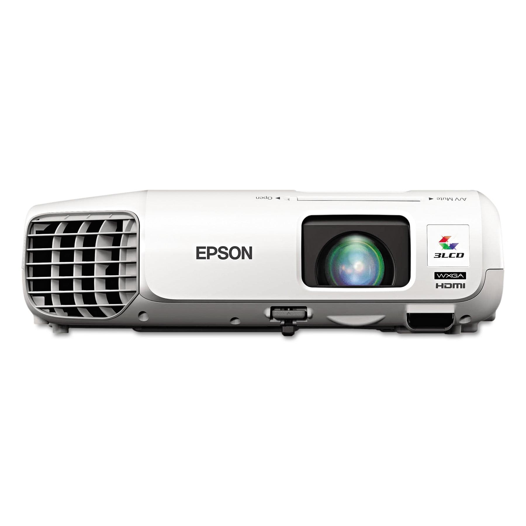 Epson PowerLite 955WH WXGA 3LCD Projector, 3200 Lumens, 1280 x 800 Pixels, 1.6x Zoom by Epson