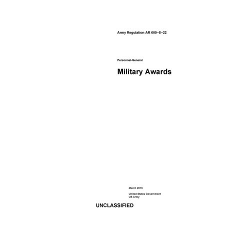 Army Regulation AR 600-8-22 Personnel-General Military Awards March 2019 -