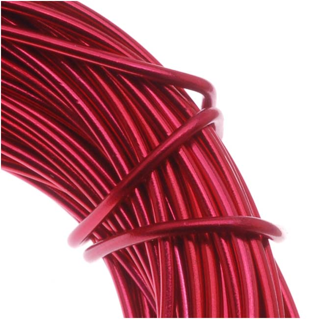Aluminum Craft Wire Red 12 Gauge 39 Feet (11.8 Meters)