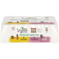 Purina Beyond Grain Free, Natural Pate Wet Dog Food; Chicken & Beef Recipe Variety Pack (Various Sizes)